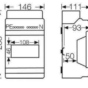 tủ điện nhựa kv 6106